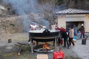 大鍋で作る豚汁
